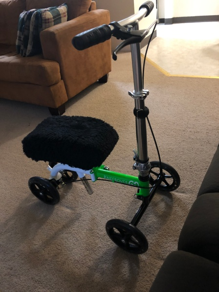 The 20 lb Scooter I bought that can fold up small enough to be an airplane carry on.